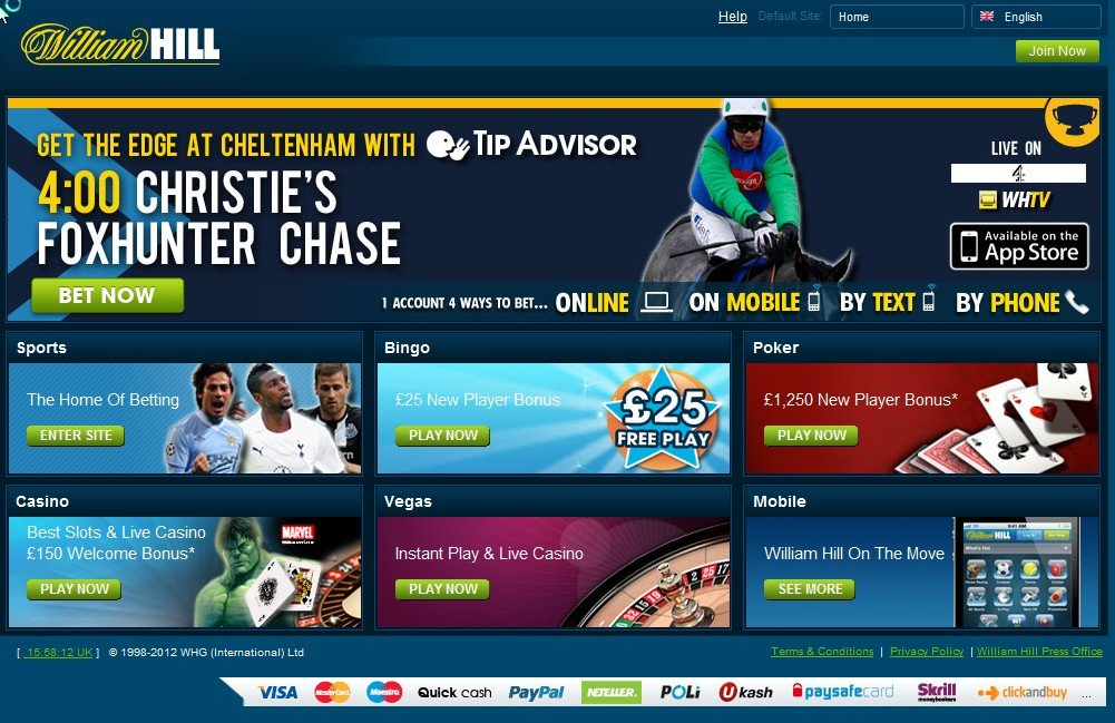 william hill online casino casino book