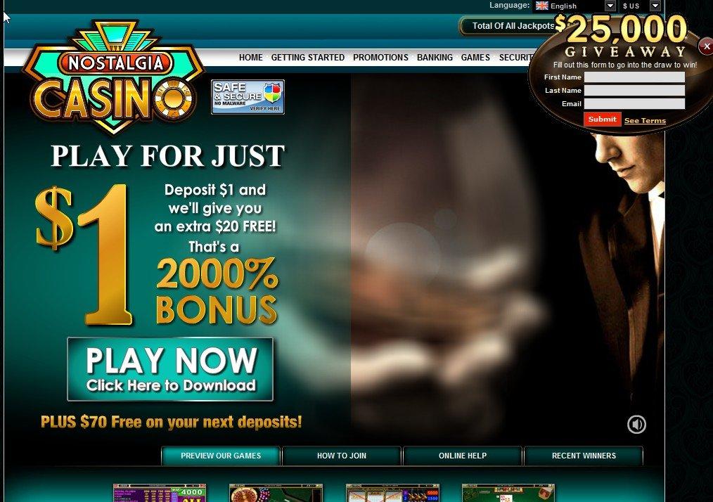 Casino nostalgia online gambling payment methods