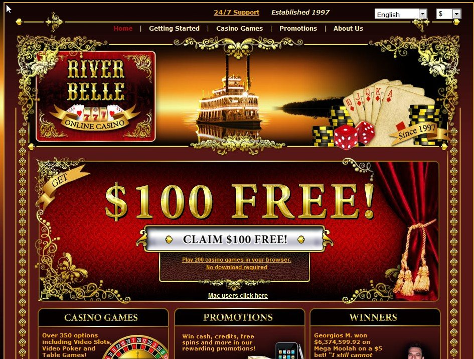 river belle online casino