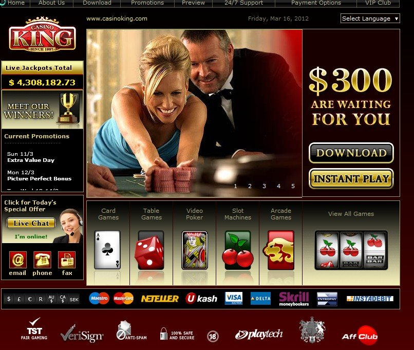 online casino games king of casino