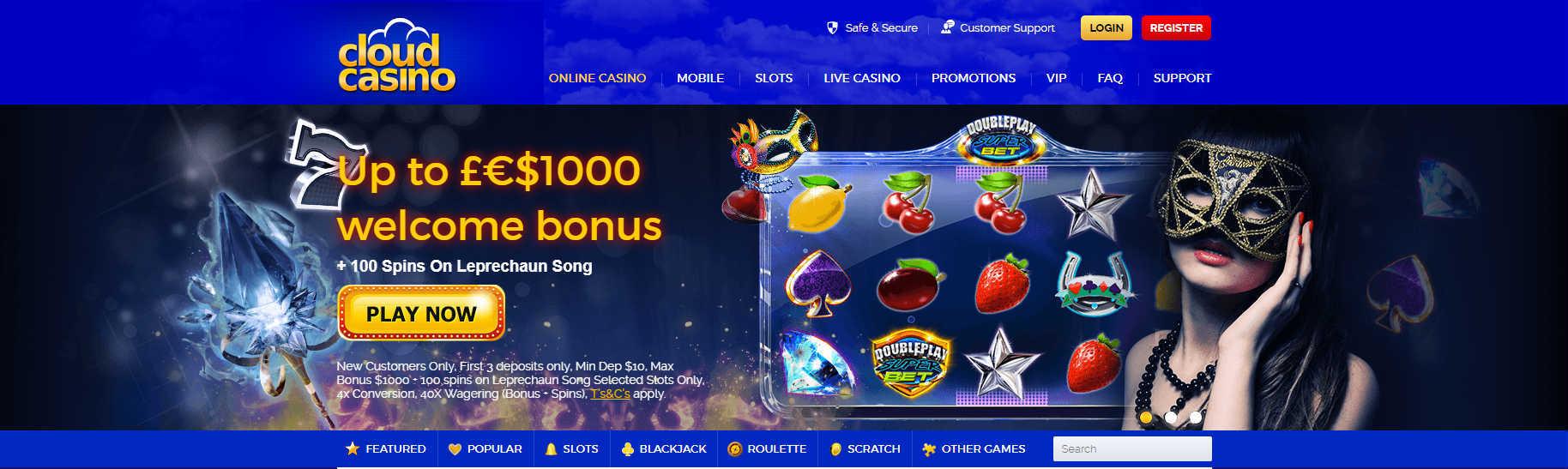 Cloud Casino Online Casino Bonuses