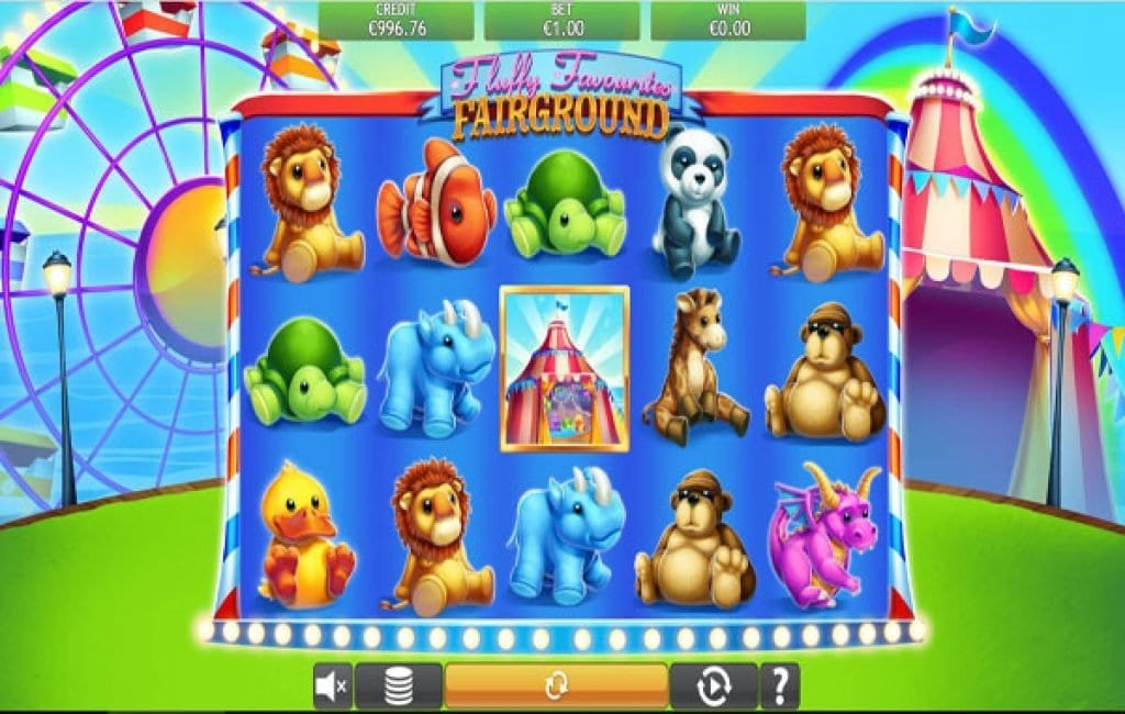 Fluffy favourites fairground slot offers cuddly winnings without tokens]