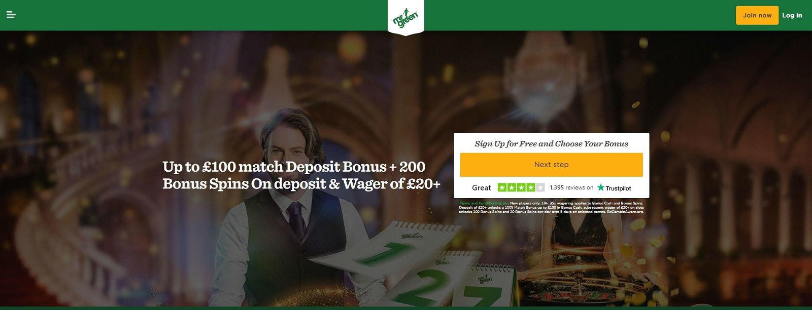 Mr Green Casino Online Bonuses