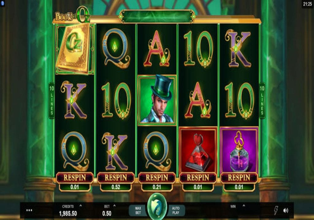 Play The Book Of Oz Slot At Microgaming Casinos
