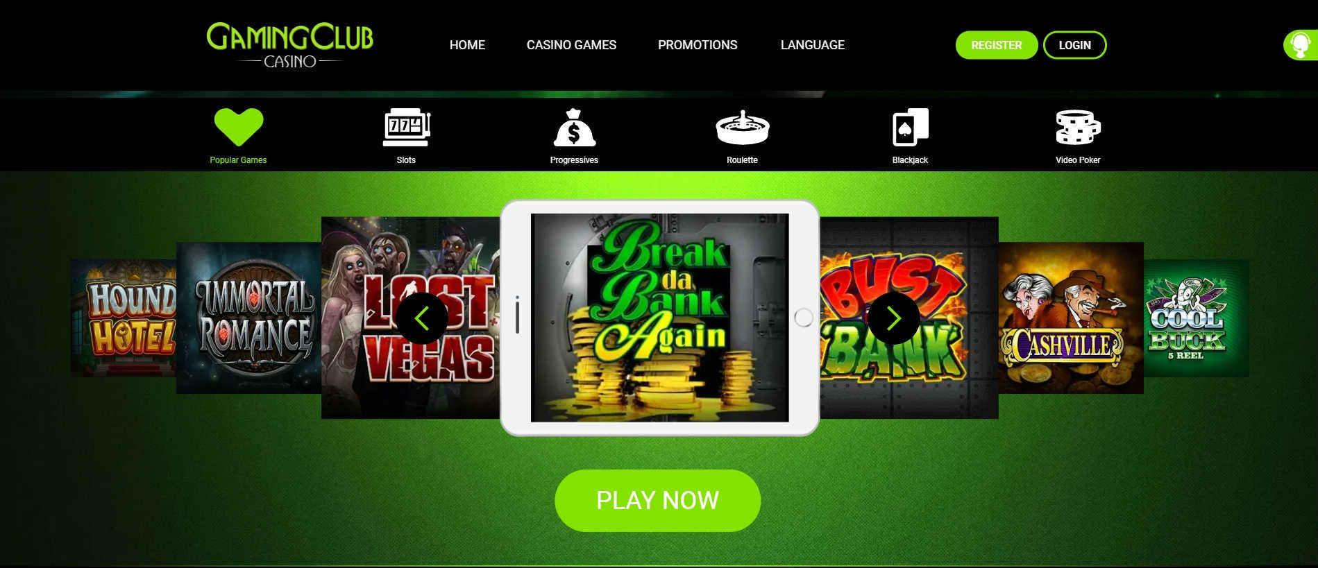 Gaming Club Casino Online Casino Games