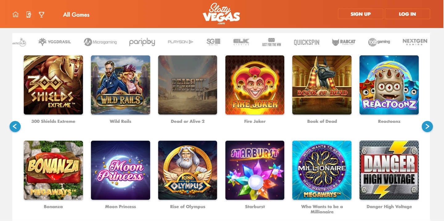 Slotty Vegas Casino Online Casino Games