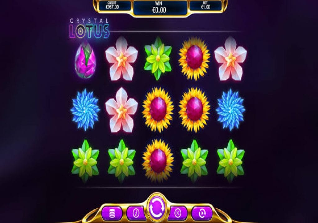Play Crystal Lotus Slot Machine New Relaxing Game By Eyecon