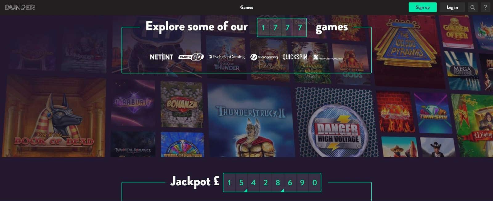 Dunder Casino Online Casino Games